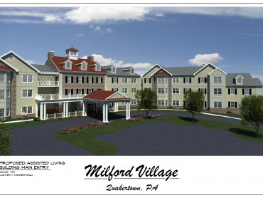 Milford Village_AL Main Entry Perspective